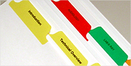 Custom Index Tabs - Delivered Next Day!